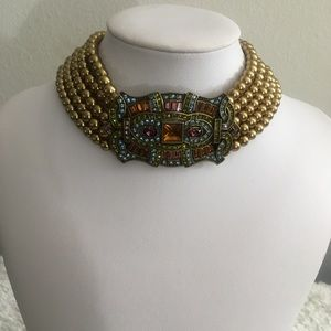 Heidi Daus Multicolor Swarovski Dyed Pearls Choker